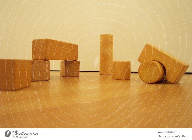 Holz auf Holz Bauklotz Spielen Klotz Quader Handwerk Stapeln bauen Kubus Teile u. Stücke Holzsteine
