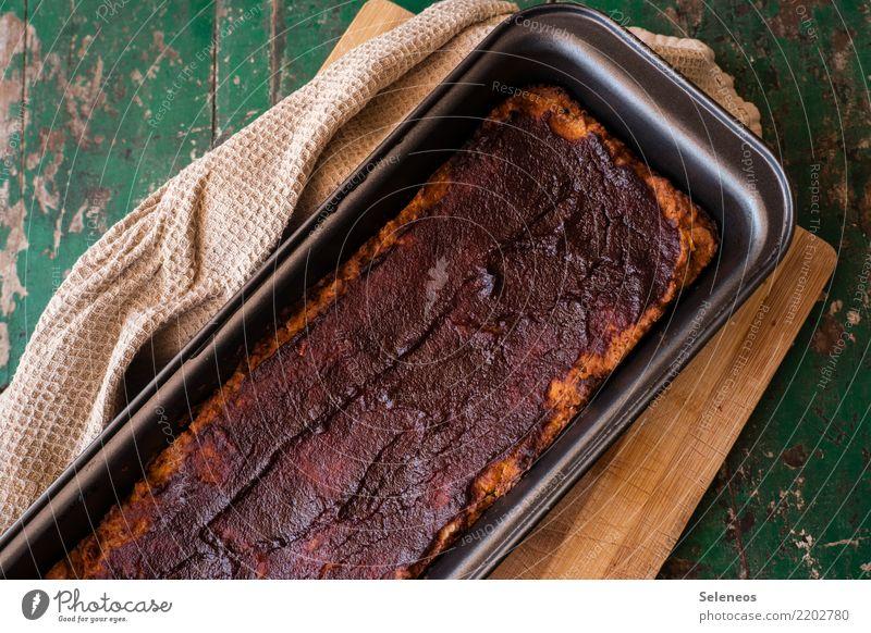 veganer Hackbraten Lebensmittel Fleisch Braten Ernährung Essen Mittagessen Abendessen Bioprodukte Vegetarische Ernährung lecker backen Farbfoto Innenaufnahme