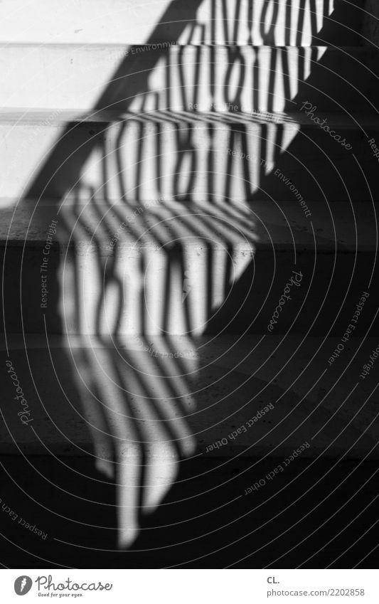 stufen Treppe Treppengeländer ästhetisch dunkel Wandel & Veränderung Wege & Pfade Schwarzweißfoto Außenaufnahme abstrakt Muster Menschenleer Tag Licht Schatten