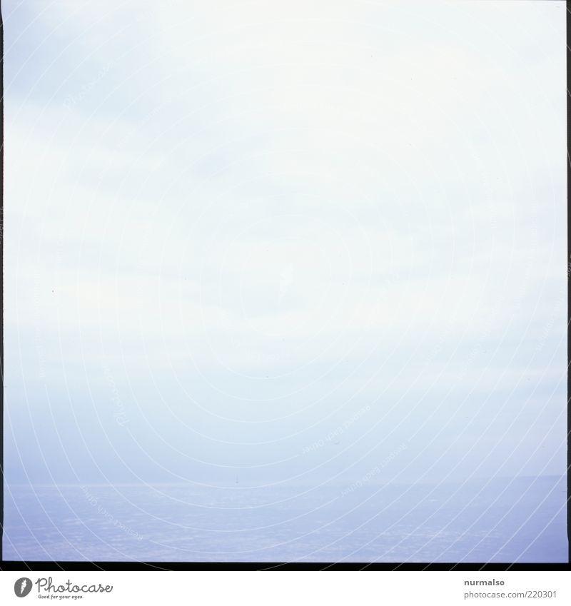Meer, nicht mehr Natur Wasser Himmel blau Ferien & Urlaub & Reisen Erholung Freiheit grau Stimmung Nebel Umwelt frei Horizont Tourismus einfach Urelemente