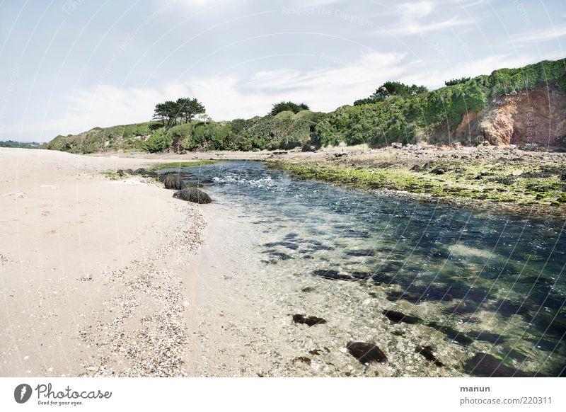 Aber-Fluss bei Ebbe Ferien & Urlaub & Reisen Tourismus Sommerurlaub Strand Natur Landschaft Sand Wasser Wald Felsen Flussufer authentisch fantastisch wild