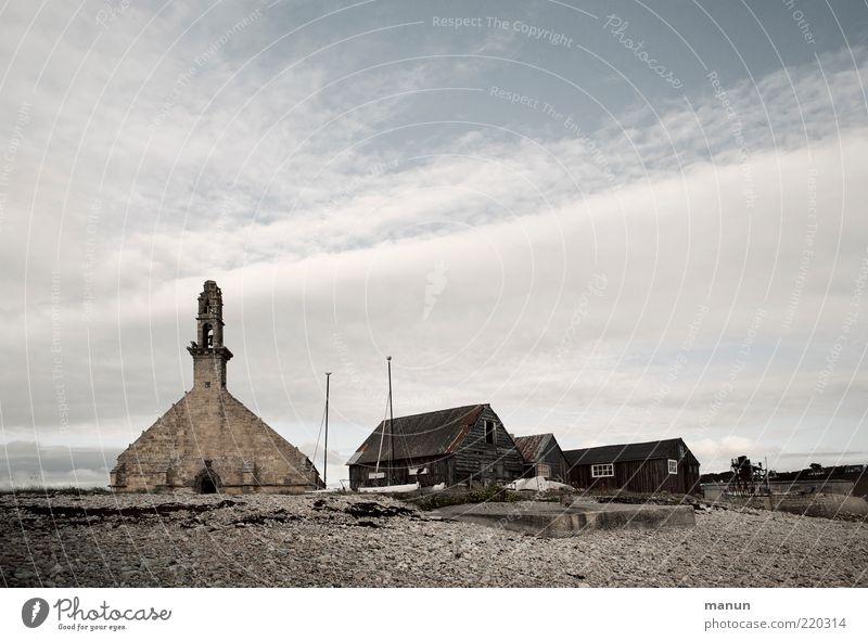 Camaret Ferien & Urlaub & Reisen Landschaft Strand Dorf Fischerdorf Haus Hütte Kirche Turm Bauwerk Gebäude Architektur Sehenswürdigkeit Wahrzeichen Denkmal