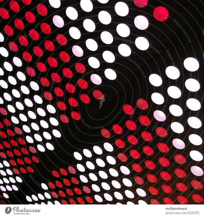 Nachtstreifen schön weiß rot schwarz Stimmung Metall glänzend Glas Design elegant verrückt ästhetisch retro rund einzigartig außergewöhnlich