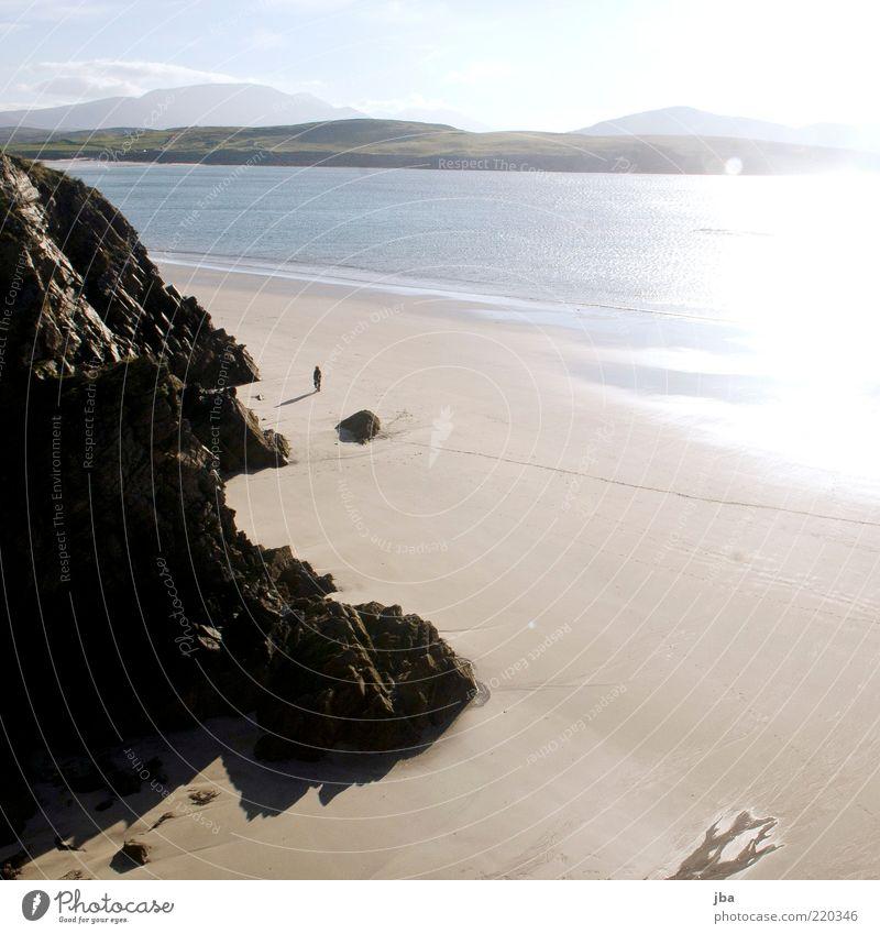 abfallen Wasser Meer Sommer Winter Strand Ferien & Urlaub & Reisen ruhig Einsamkeit Ferne Freiheit Stein Sand Landschaft Küste wandern Felsen