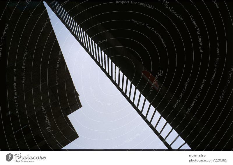 Spitzensache dunkel Wand Stil Mauer Wege & Pfade Architektur Brücke trist einfach geheimnisvoll Zeichen trashig Bauwerk Geländer Symmetrie eckig