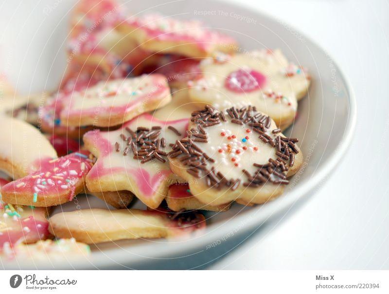 Plätzchenteller Weihnachten & Advent Ernährung Lebensmittel Stern (Symbol) süß Kochen & Garen & Backen Dekoration & Verzierung lecker Süßwaren Schokolade