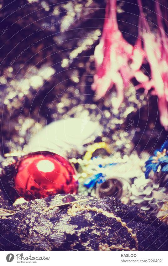 Weihnachten & Advent rot Winter schwarz Farbe dunkel Feste & Feiern Kunst Hintergrundbild neu weich Dekoration & Verzierung Kugel Reichtum Jahr