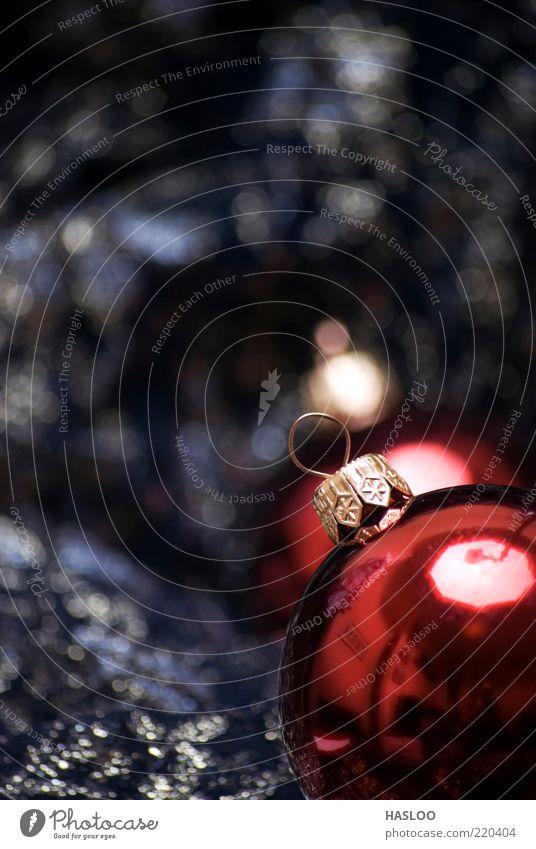 Weihnachts- und Neujahrsschmuck Reichtum Winter Dekoration & Verzierung Feste & Feiern Kunst Ornament hängen dunkel neu weich rot schwarz Farbe Tradition Ball