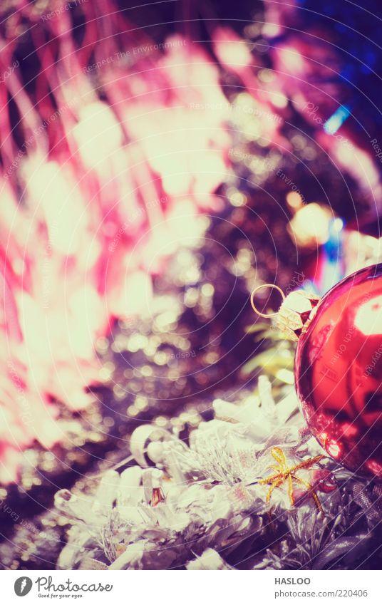 Weihnachts- und Neujahrsschmuck Reichtum Dekoration & Verzierung Feste & Feiern Kunst Ornament dunkel neu weich rot schwarz Farbe Tradition Ball Textil Material