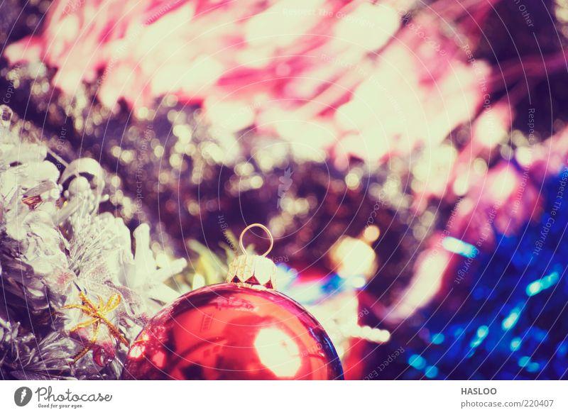 Weihnachts- und Neujahrsschmuck Reichtum Winter Dekoration & Verzierung Feste & Feiern Kunst Ornament dunkel neu weich rot schwarz Farbe Tradition Ball Textil