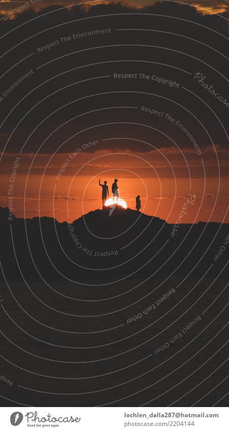 Sonnenuntergang mit Freunden - Mazatlan Mexiko Umwelt Natur Landschaft Urelemente Erde Himmel Wolken Horizont Sonnenaufgang Sommer Wärme Gefühle Freude loyal