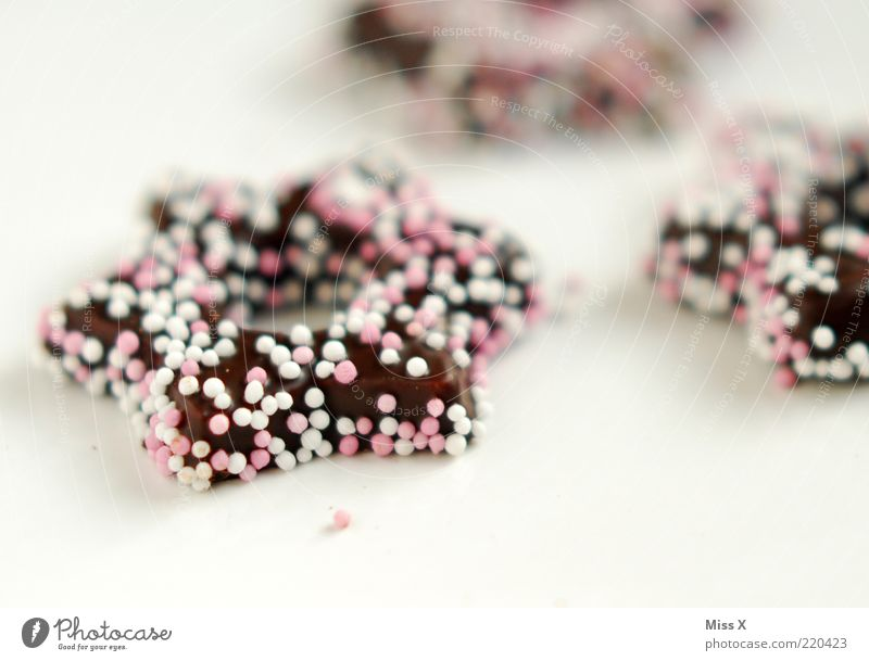Zuckerstern Weihnachten & Advent Foodfotografie Lebensmittel rosa Ernährung süß Stern (Symbol) lecker Süßwaren Backwaren Schokolade Teigwaren Weihnachtsgebäck