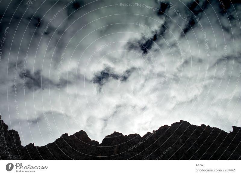 Erleuchtung am Horizont ... | Karwendel [5] Himmel Wolken Sommer Schönes Wetter Felsen Alpen Berge u. Gebirge Karwendelgebirge Laliderer Gipfel leuchten