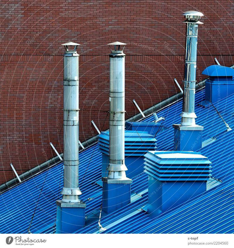 Rooftop Kunst Architektur Stadt Hauptstadt Stadtzentrum Industrieanlage Dach Dachrinne Schornstein innovativ Inspiration Farbfoto Außenaufnahme Detailaufnahme