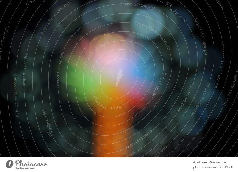 Oktoberfest II grün blau rot gelb Farbe violett Lichtpunkt Farbfleck RGB Farbenspiel regenbogenfarben Lichtfleck Kettenkarussell Spektralfarbe Vor dunklem Hintergrund