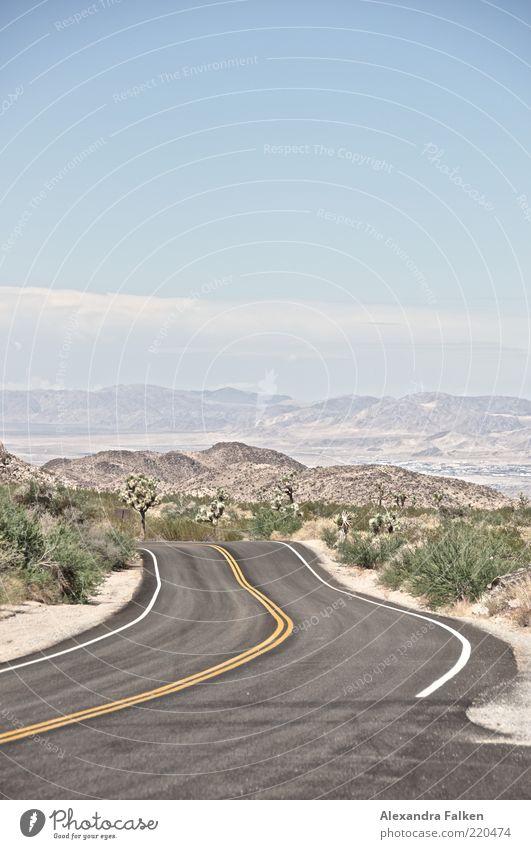 Road To Nowhere. Ferien & Urlaub & Reisen Ausflug Ferne Freiheit Sommerurlaub Umwelt Natur Landschaft Pflanze Himmel Horizont Schönes Wetter Grünpflanze Hügel