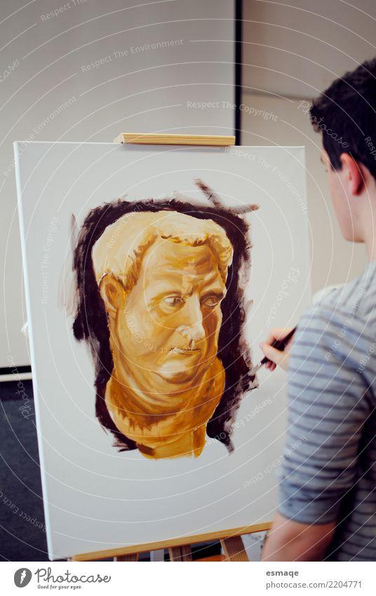 Gemälde Bildung Schule Studium Mensch Kunst Künstler Maler Ausstellung zeichnen streichen Kreativität lernen Innenaufnahme