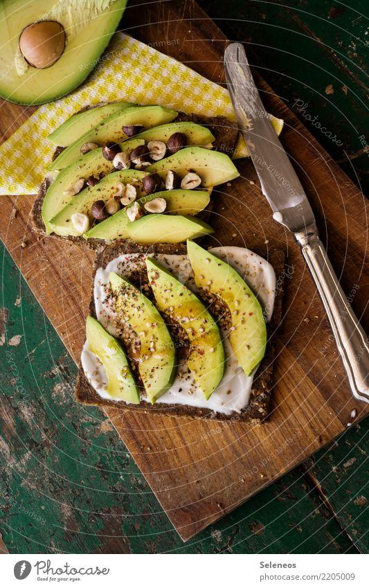 Avo Stulle Lebensmittel Gemüse Teigwaren Backwaren Brot Avocado Nuss Haselnuss Sesam Joghurt Quark Ernährung Essen Bioprodukte Vegetarische Ernährung Diät Snack