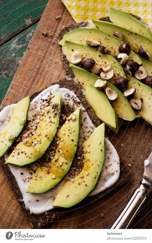 Avobrot Lebensmittel Gemüse Brot Kräuter & Gewürze Avocado Nuss Haselnusskern Sesam Joghurt Schwarzbrot Ernährung Essen Bioprodukte Vegetarische Ernährung Diät
