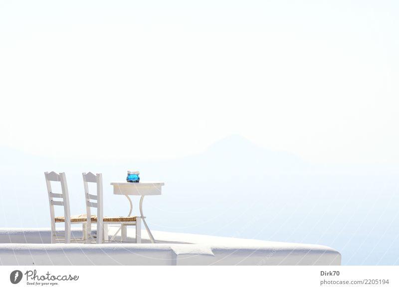 Rasten an des Himmels Rand. Ferien & Urlaub & Reisen Sommer Meer Erholung ruhig Tourismus Zufriedenheit träumen Insel Tisch Schönes Wetter Klima Unendlichkeit