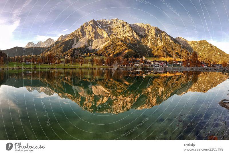 Ramsau am Dachstein Panorama Umwelt Natur Landschaft Wasser Himmel Wolken Sonne Sonnenaufgang Sonnenuntergang Herbst Schönes Wetter Alpen Berge u. Gebirge