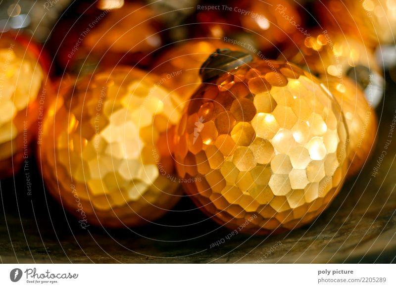 Golden bronzen glänzende Weihnachtskugel Weihnachten & Advent schön Freude Lifestyle Liebe Stil Glück Party Feste & Feiern Zusammensein Stimmung