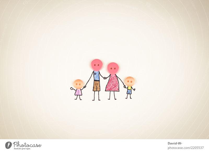 Darf ich vorstellen: Familie Knopf Kind Frau Mensch Mann Hand Mädchen Erwachsene Leben Gesundheit Liebe feminin Familie & Verwandtschaft Junge Kunst Glück