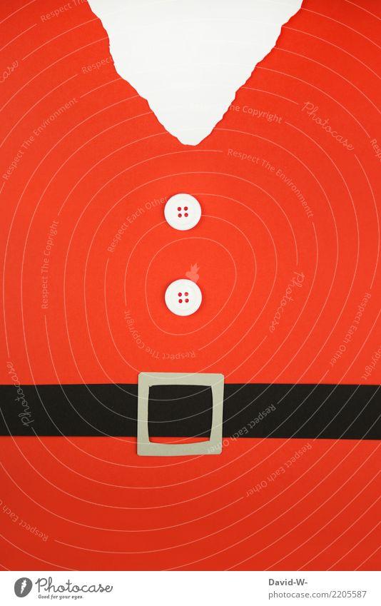 Nikolaus Mensch Weihnachten & Advent weiß rot Freude Winter Leben Lifestyle Kunst Glück Feste & Feiern Häusliches Leben Dekoration & Verzierung Kindheit