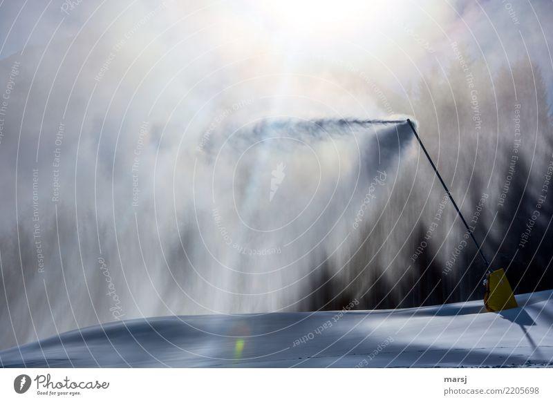 Für willma: mein Vereisungsspray Winter dunkel kalt Schnee Schneefall Eis modern Frost Winterurlaub Wintersport Kunstschnee Schneekanone