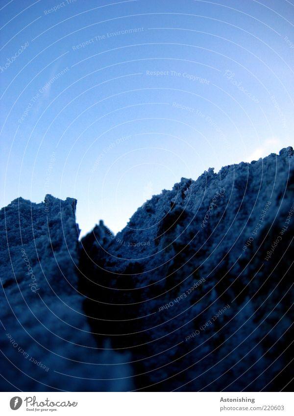 Gips-Gebirge Himmel Natur blau weiß schwarz dunkel Landschaft Berge u. Gebirge Stein Luft hell Wetter Felsen hoch Spitze Gipfel