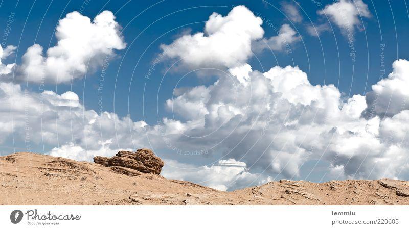 Felsen Himmel Sommer Ferien & Urlaub & Reisen Wolken Freiheit Berge u. Gebirge Landschaft Stimmung Hügel Griechenland Sandstein Wolkenhimmel Korfu Wolkenbild