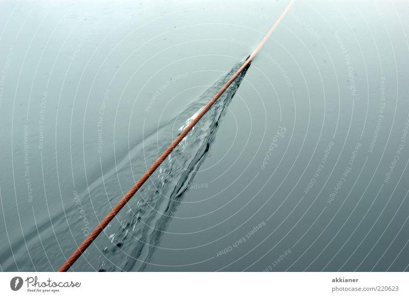 ZIEH Wasser See hell nass Wassertropfen Seil Urelemente Wasseroberfläche Drahtseil Wasserspiegelung