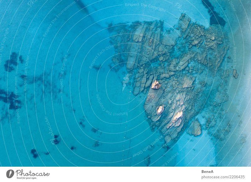 Herz Felsen im türkisblauem Meer Wasser Natur Ferien & Urlaub & Reisen Sommer Sonne Landschaft Erholung Ferne Strand Liebe Küste Freiheit Stein