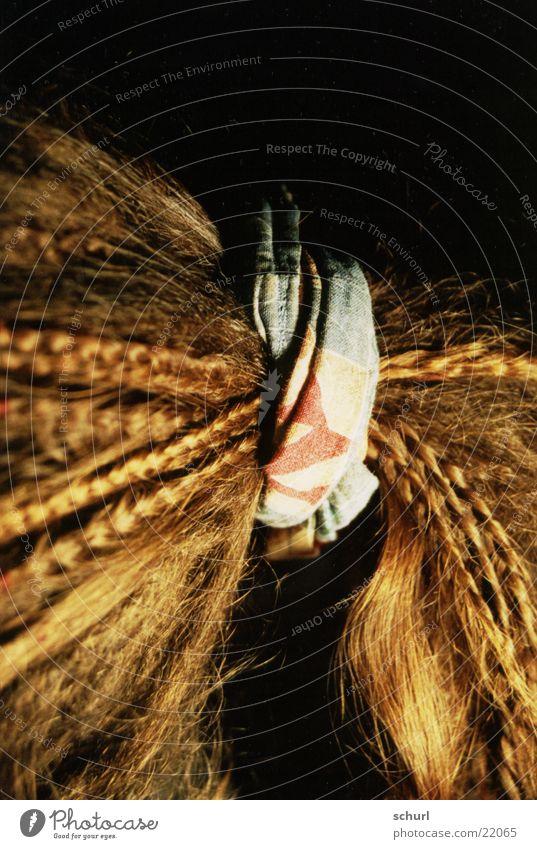 haarband Zopf Haarband geflochten binden Haare & Frisuren Detailaufnahme zusammenbinden