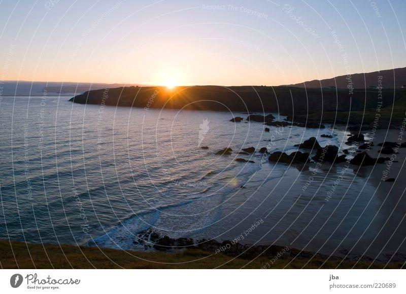 aufgehen Natur Wasser Sonne Meer Sommer Strand ruhig Ferne Erholung Herbst Bewegung Freiheit Sand Landschaft Küste Wellen