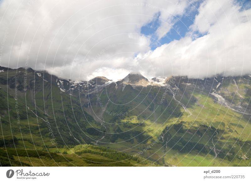 Unter den Wolken Freizeit & Hobby Ferien & Urlaub & Reisen Sommer Sommerurlaub Berge u. Gebirge Umwelt Natur Landschaft Alpen alt blau grün Klima
