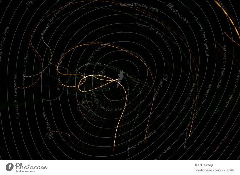 LochNess Lichtspiel Schwung Aktion Leuchtspur schwungvoll Lichtschweif Strichellinie Lichtdesign Vor dunklem Hintergrund Lichtkunst