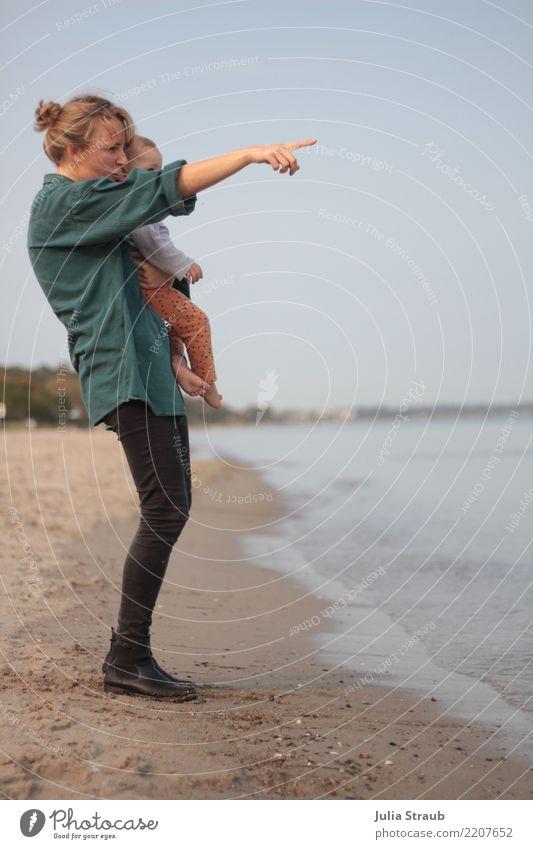 Da fährt ein Schiff feminin Baby Kleinkind Mädchen Frau Erwachsene Familie & Verwandtschaft 2 Mensch 1-3 Jahre 18-30 Jahre Jugendliche Herbst Schönes Wetter