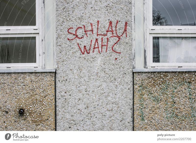 Graffiti an einer Schule in Frankfurt (Oder) Bildung Wissenschaften lernen Schulgebäude Berufsausbildung Karriere Erfolg Arbeitslosigkeit Subkultur