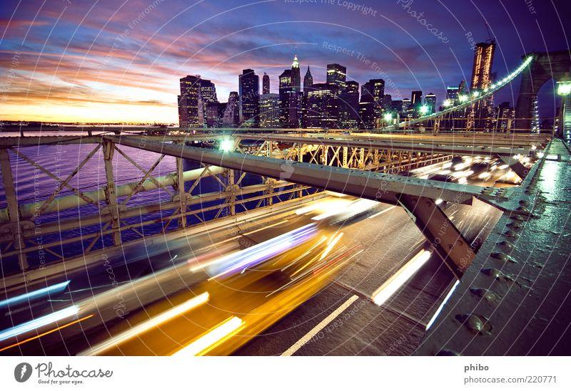 11 schön alt Himmel Stadt blau New York City Wolken gelb Straße Arbeit & Erwerbstätigkeit Küste Architektur Straßenverkehr Hochhaus Verkehr Brücke