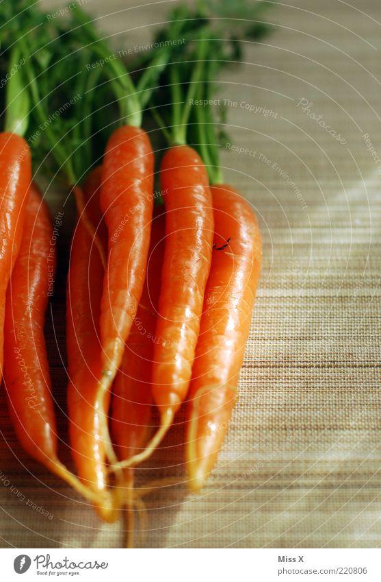 frisch Lebensmittel Gemüse Ernährung Bioprodukte Vegetarische Ernährung Diät lecker orange Möhre Gesundheit Vitamin Vitamin A Foodfotografie Farbfoto