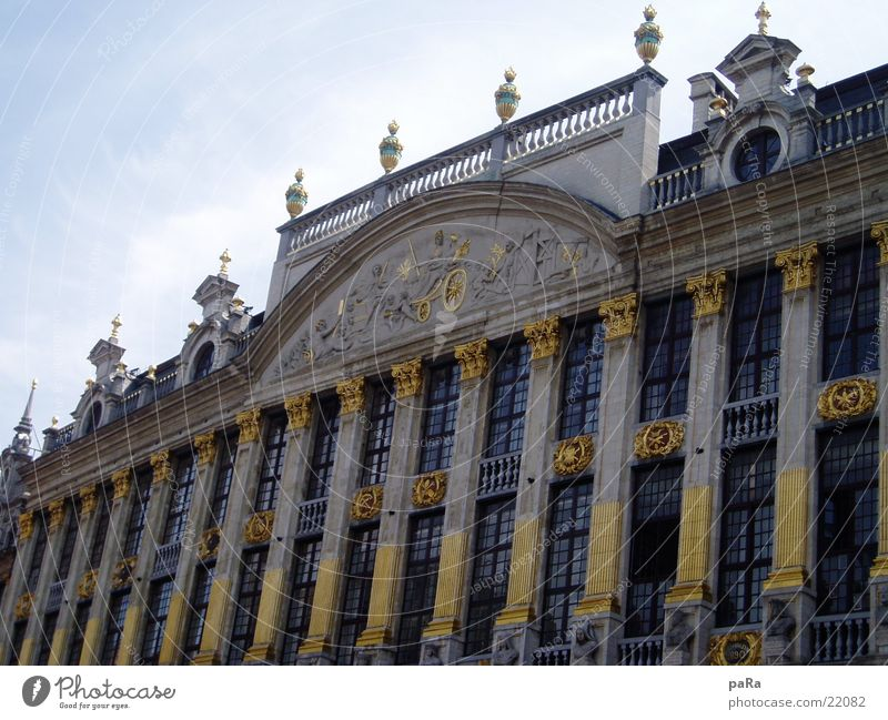 Marktplatz Haus Belgien Gebäude Architektur gold
