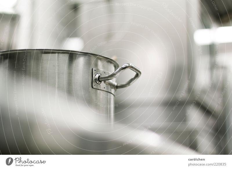 stahl harter Kochtopf grau Metall glänzend Kochen & Garen & Backen Küche Sauberkeit Stahl silber Griff Topf Herd & Backofen steril Ernährung Edelstahl