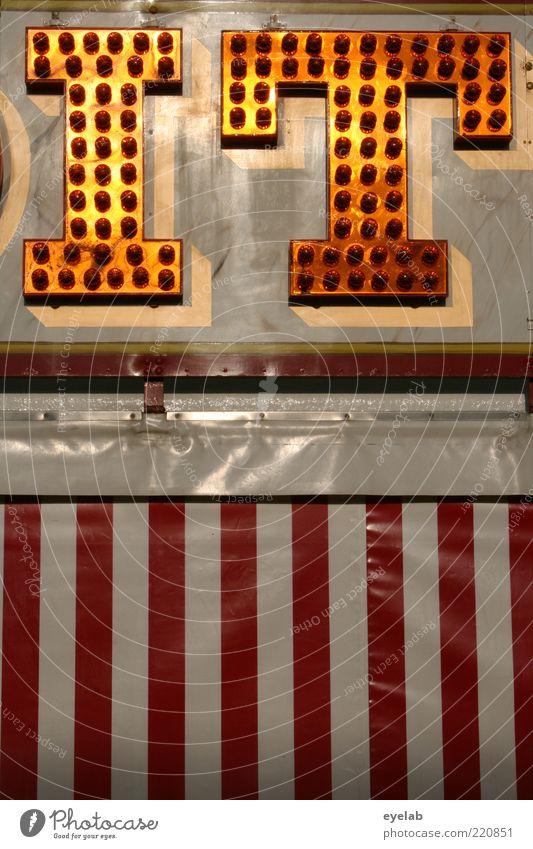 Girl weiß rot Lampe Beleuchtung Metall Design gold verrückt Technik & Technologie Schriftzeichen Kitsch Dekoration & Verzierung Show Buchstaben Zeichen leuchten
