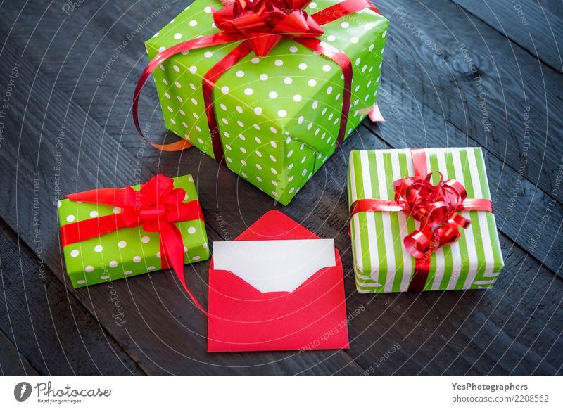 Geschenkboxen mit rotem Band elegant Glück Handarbeit Feste & Feiern Silvester u. Neujahr Geburtstag Paket niedlich Überraschung Atmosphäre Weihnachtsgeschenke