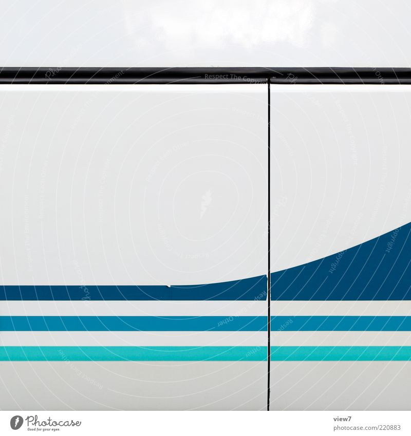 1.100 simple fast blau weiß Farbe kalt Metall Linie elegant Ordnung Design modern ästhetisch neu Streifen einzigartig einfach rein
