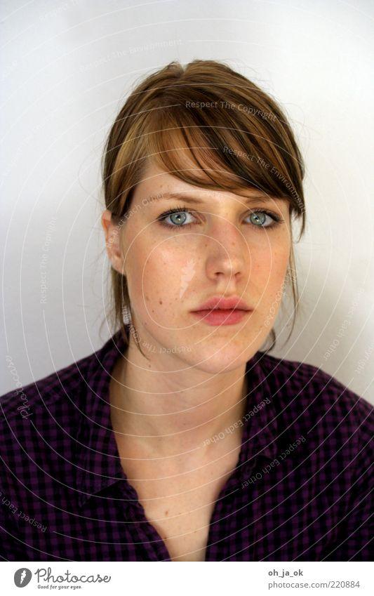 rike Mensch feminin Junge Frau Jugendliche Kopf Haare & Frisuren Auge Nase Mund Lippen 1 18-30 Jahre Erwachsene Hemd brünett Blick authentisch trendy schön