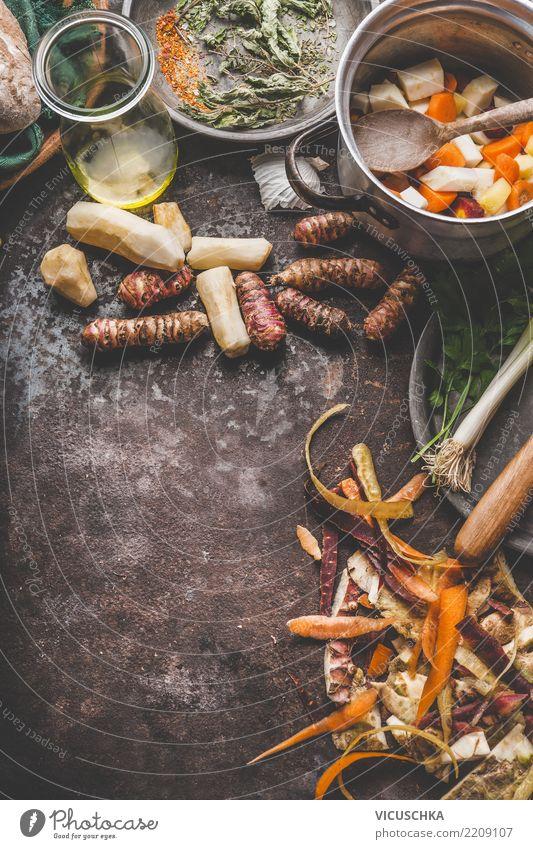 Vegetarisch Kochen mit Gemüse und Topinambur Lebensmittel Ernährung Mittagessen Abendessen Bioprodukte Vegetarische Ernährung Diät Geschirr Schalen & Schüsseln