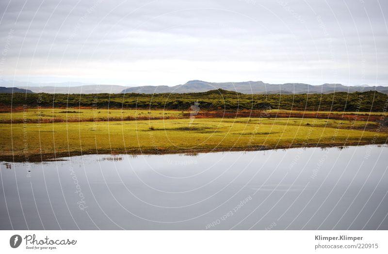 So viel gute Luft! Umwelt Natur Landschaft Pflanze Erde Wasser Gras Moos Wildpflanze Hügel Felsen Fjord See Ferne frei blau grün Stimmung Einsamkeit Farbfoto