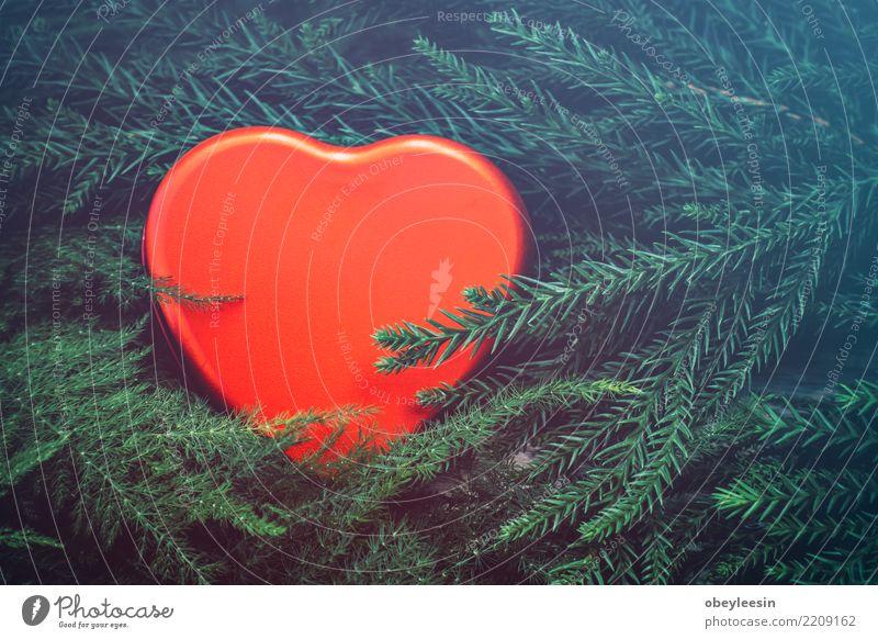 rotes Herz, Valentinstag Liebe, Vintage-Ton Leben Mensch Frau Erwachsene Mutter Großmutter Hand alt Zusammensein schwarz Leidenschaft Mitgefühl Versicherung